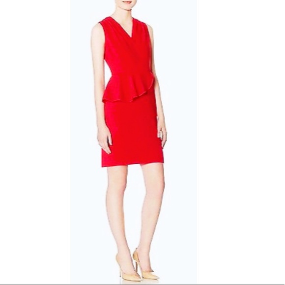 2d2d4568a07a2b The Limited Red Sleeveless Peplum Sheath Red Dress